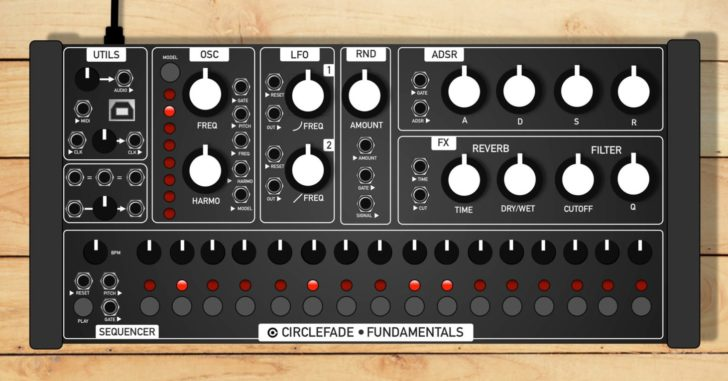 circlefade announces cfm2 all in one semi modular synthesizer synthtopia. Black Bedroom Furniture Sets. Home Design Ideas