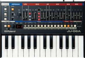 Roland-JU06A-with-keyboard-top-view