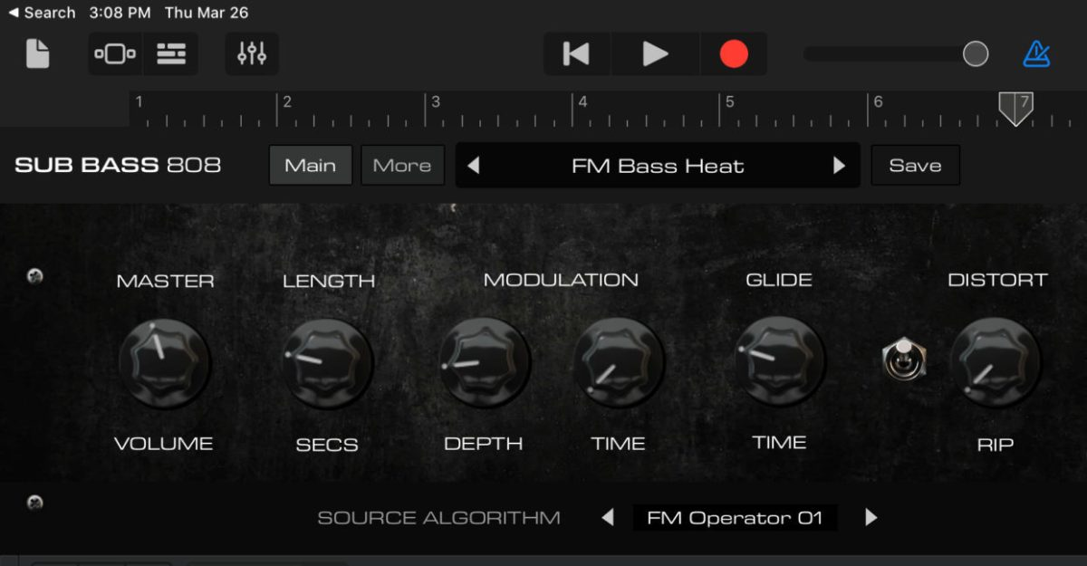 AudioKit Bass 808 Synth Now Available For iPad