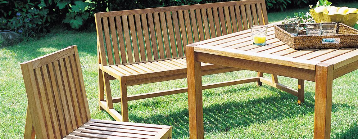 image mobilier de jardin bois et fer