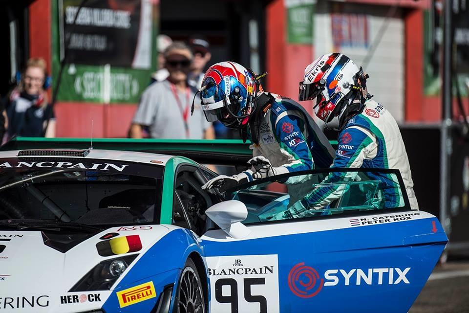 Blancpain GT Series - Syntix Lamborghini Gallardo GT3 in boxes- 10W60 MoS2 - Gear Max 75W140