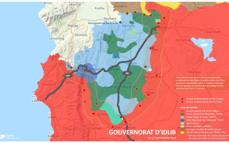 Syria Intelligence - 20180922 - Contrôle du territoire - Idlib - zone démilitarisée