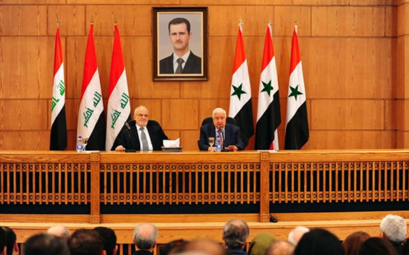 Syria-Intelligence-MAE-al-Mouallem-et-MAE-Irak-al-Jaafari-rencontre-Damas-2-15-10-2018