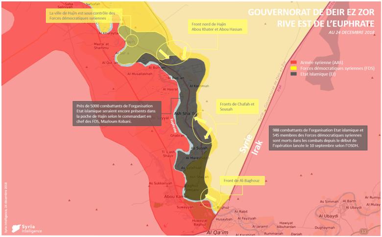 Gouvernorat de Deir Ez-Zor – front nord de Hajin