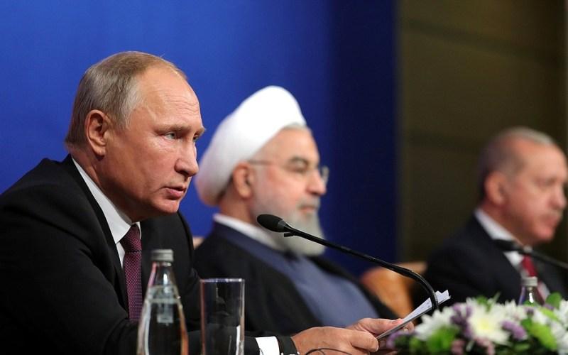 Sommet tripartite sur la Syrie entre l'Iran, la Russie et la Turquie, le 8 septembre 2018 à Téhéran (image kremlin.ru)