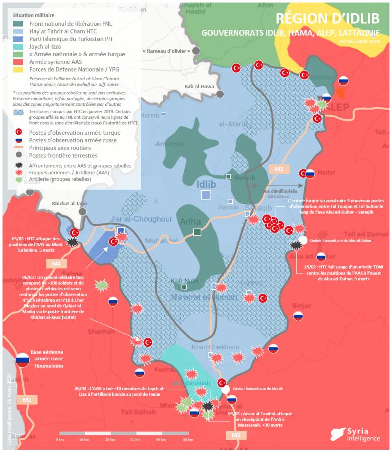 Situation militaire dans la région d'Idlib : Escalade des tensions dans la zone démilitarisée