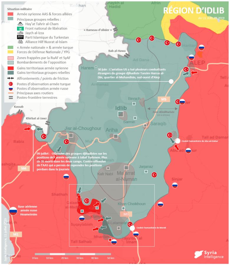 Situation militaire dans la région d'Idlib