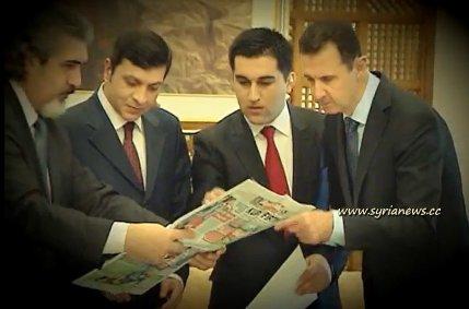 President Bashar Al Assad with Turkish Ulusal & Aydinlik media