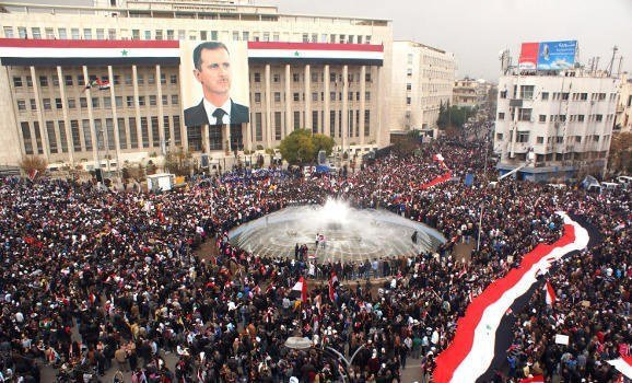 Damascus, Rally, Bashar al-Assad