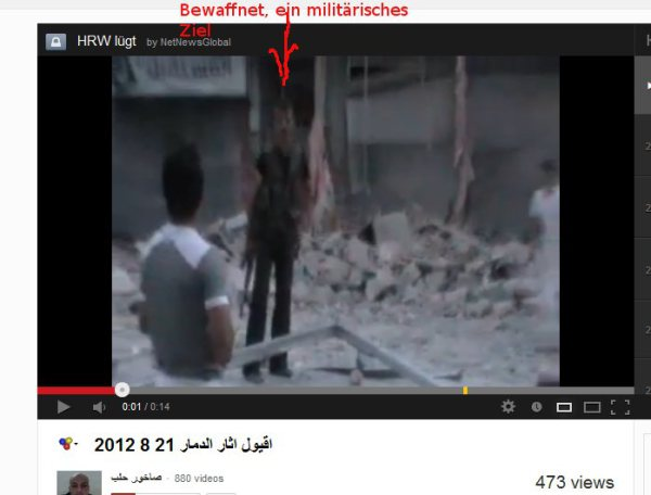 """Armed militias at the """"bakery"""" in Aleppo."""