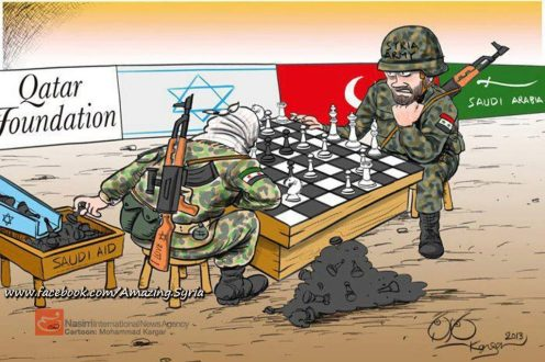 All the west and their stooges supporting FSA against the Syrian Arab Army