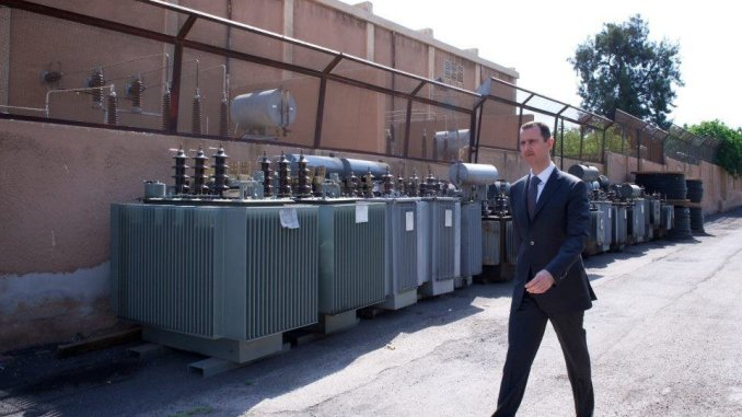 Assad visit to Omayyad Electricity
