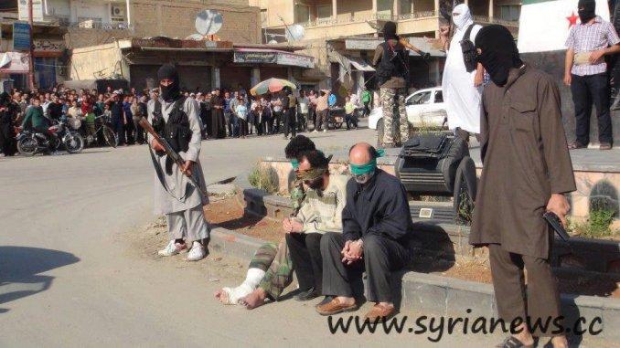 "Obama""s Nusra Front execute 3 men in a public square"