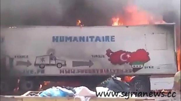 Turkish Car Explosion in Bab Hawa Crossing