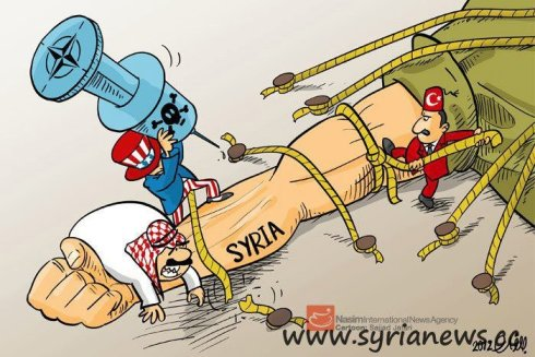 Satan & his tools against Syria