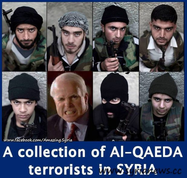 A collection of Al-Qaeda terrorists in Syria