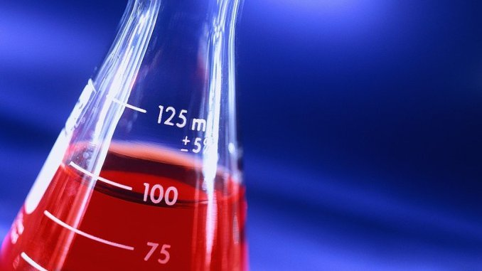 Erlenmeyer Flask with Red Liquid