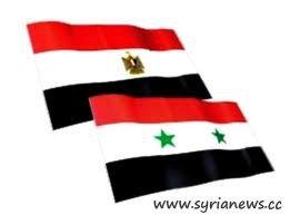 Syria Egypt Flags