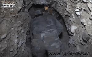Tunnel of the terrorists in al-Qabun, Syria