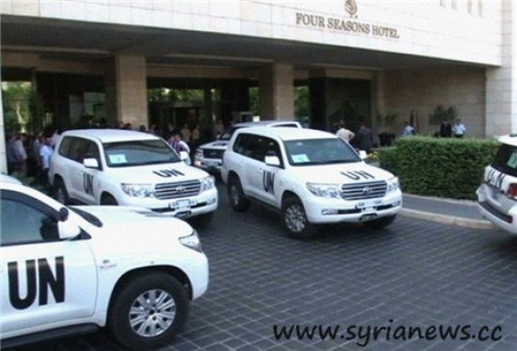Syria: Terrorists attacked Residence of UN Inspectors (Source: FNA)