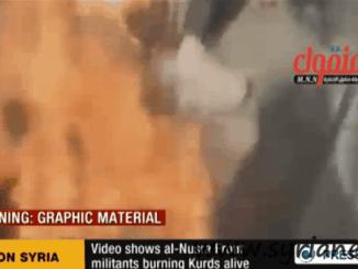 Terrorists set Syrian Kurds on Fire
