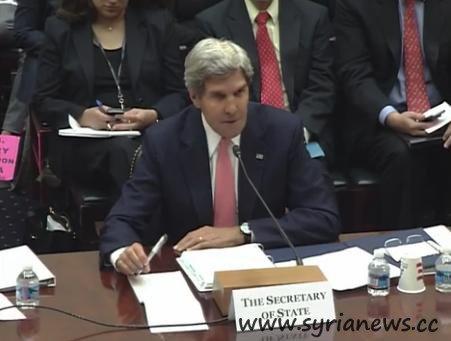 U.S. Secretary Kerry at a Senate hearing.