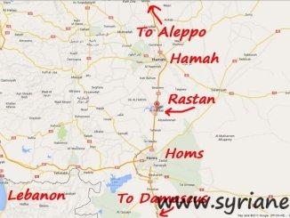 Rastan city in Homs countryside