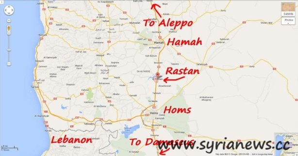 Rastan city in Homs countryside