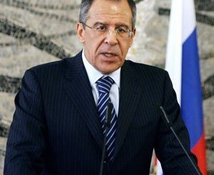Russian minister of foreign affairs Sergey Lavrov commenting on Syria