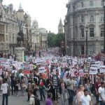 thousands march news stays silent