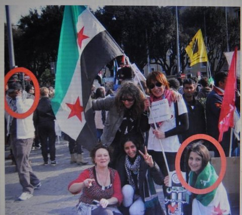 Saqar, circled in red. Rome. Milan's prosecutor has an 'open file' on him.