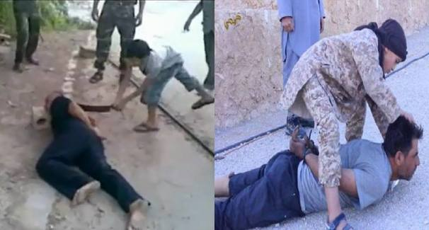 Free Syrian Army 'FSA' December 2012 (Left) and ISIS Child Soldier July 2015 (Right)