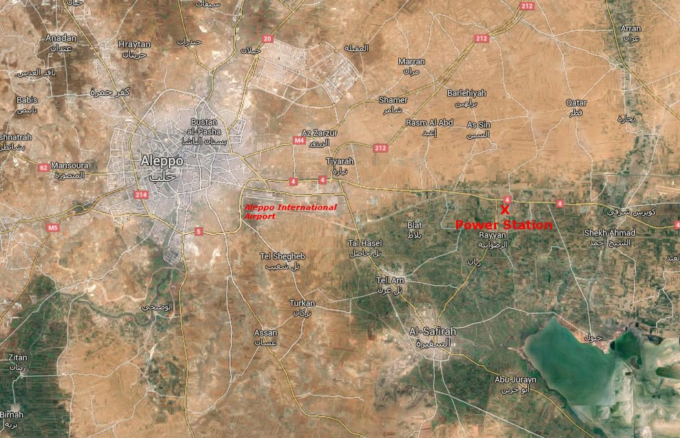 image- aleppo power station on the map