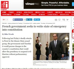 Holland breach French constitution