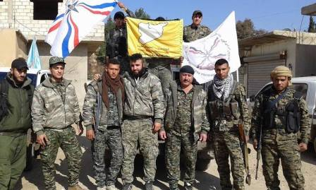 Multicultural terrorist flags