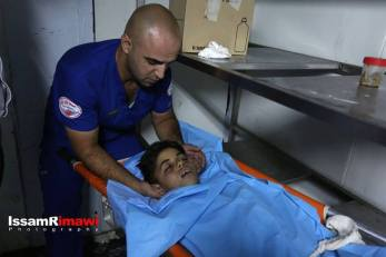 Body of 12 year old Mohiyeh el Tabakhi, martryed in al Ram
