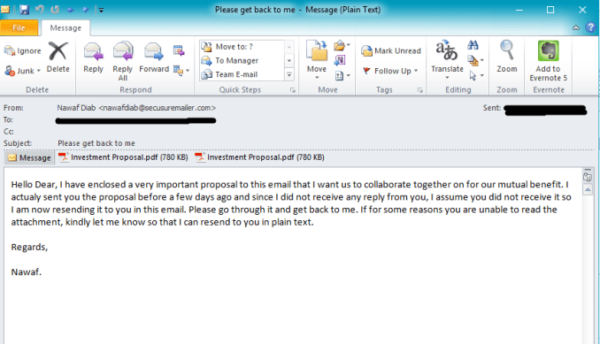 image-email scam message