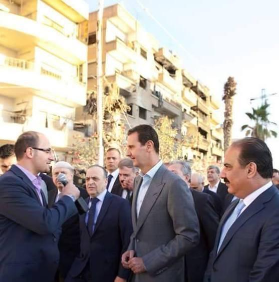 Assad in Darayya