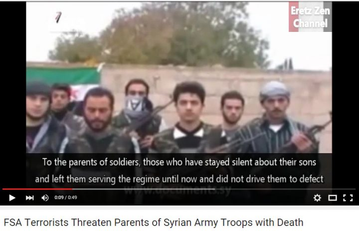 fsa takfiri threaten parents of Syrian Arab Army soldiers