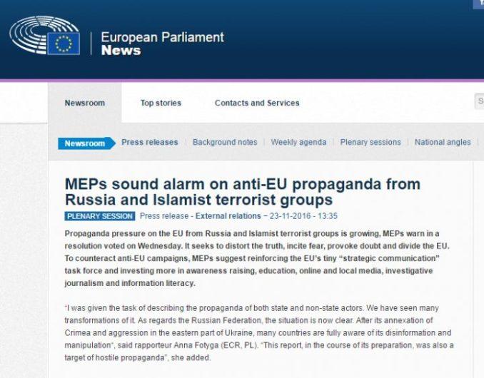 globalist useful idiot MEP statement