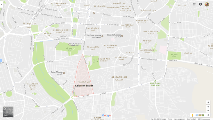 image-Map of Kallasseh Distric, Aleppo