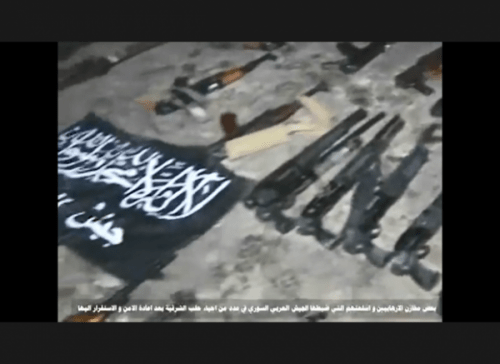 image-Kallasseh Aleppo Terrorists Weapons Warehouses