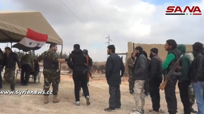 image-1200 Terrorists Convert to SAA in Damascus Western Countryside