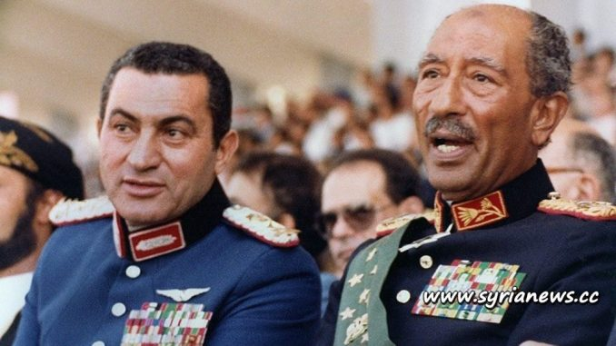 image-Egyptian Traitors Husni Mubarak and Anwar Sadat
