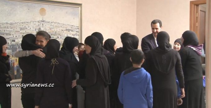 femicide - Latakia Freed Women and Children with President Assad and First Lady Asma