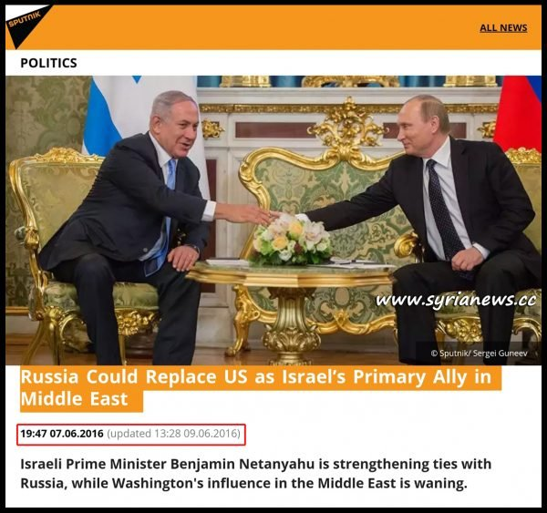 image-israel putin Russia to replace US as Israel's main ally in the Middle East