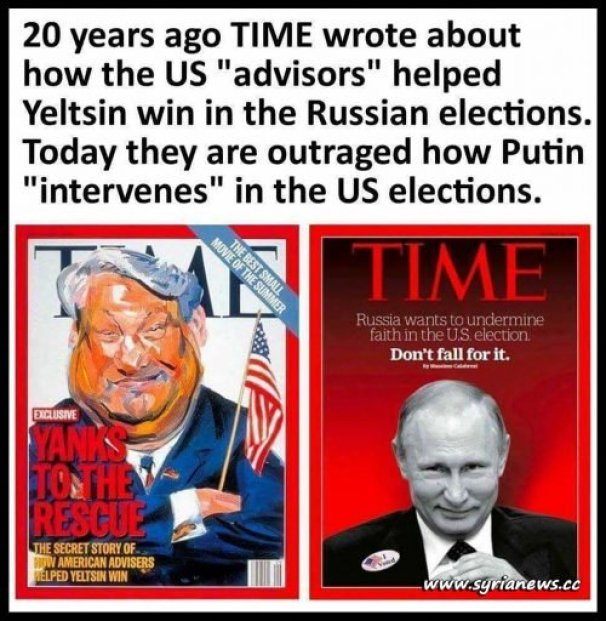 US proudly interferes in Russia elections slam Russia for alleged interference in US elections