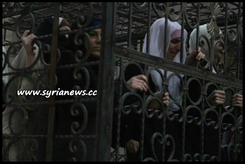 image-Saudi-Sponsored Jaysh al-Islam Drove Women and Children in Cages in Pick-up Vehicles on Douma Streets