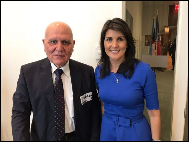 image-Dr. Morad tells (lies to) Nikki Haley SAMS has recorded almost 200 chemical weapons attacks in 7 years
