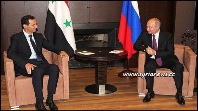image-Syrian President Dr. Bashar al-Assad meeting Russian president Putin at Sochi